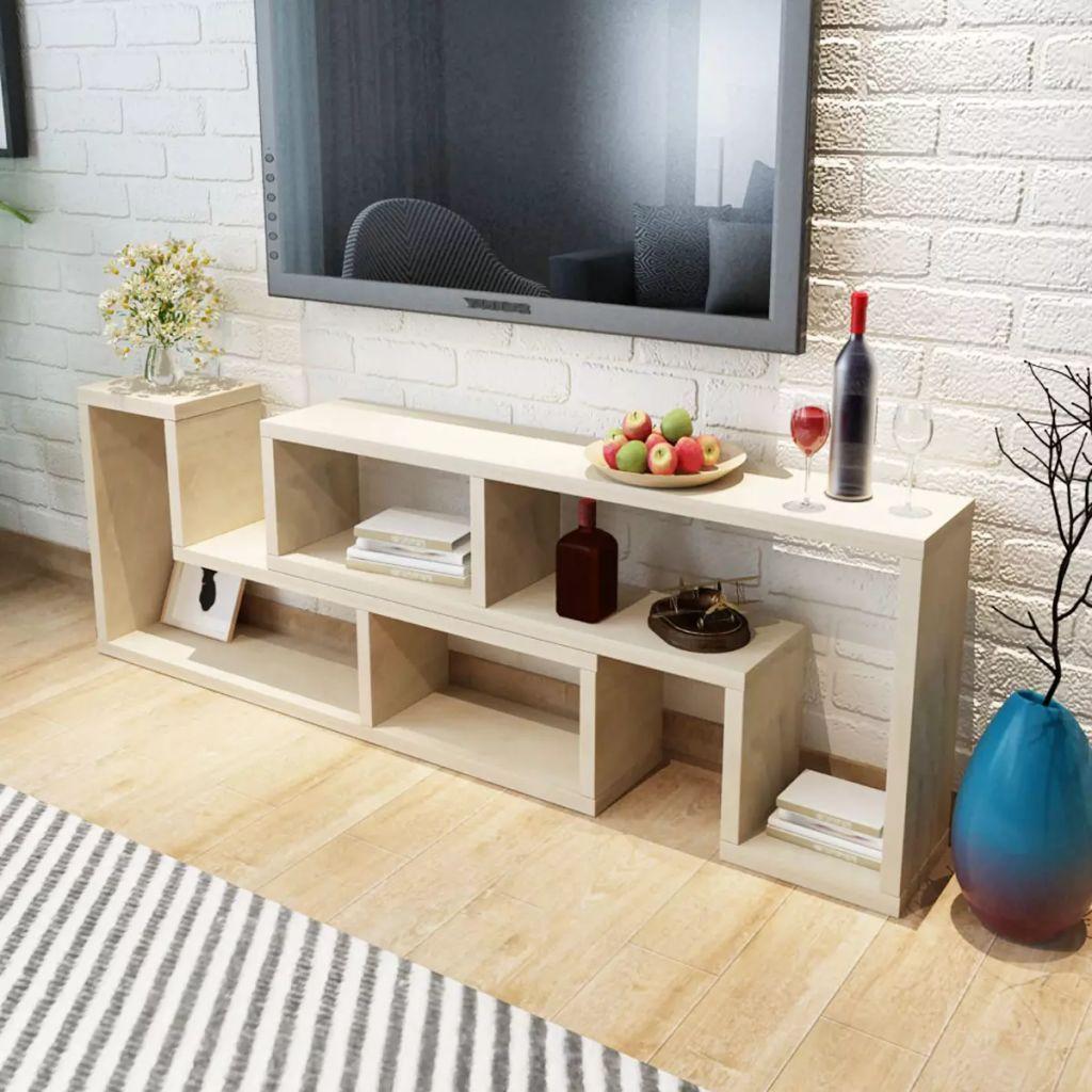 Us 137 34 35 Off Hot Modern Table For Tv Living Room Tv Furniture High Quality Vidaxl L Shaped Oak Tv Cabinet Bookcase Adjustable Many Shapes On