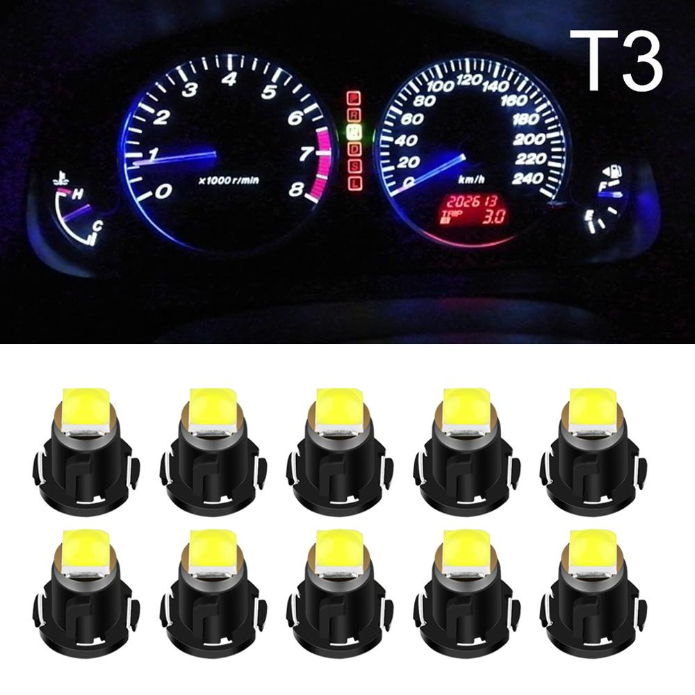 10pcs T3 LED Super Bright 3030 LED Chips Car Board Instrument Panel Lamp Auto Dashboard Warming Indicator Wedge Light