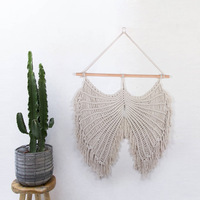 Creative home accessories soft ornaments cotton cord woven angel wings tapestry Bohemian style decoration mandala mexican party