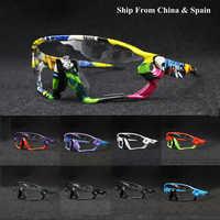 Black Red Blue Photochromic Cycling Glasses UV400 MTB Bike Bicycle Riding TR90 Outdoor Sport Polarized Eyewear Summer Sunglasses