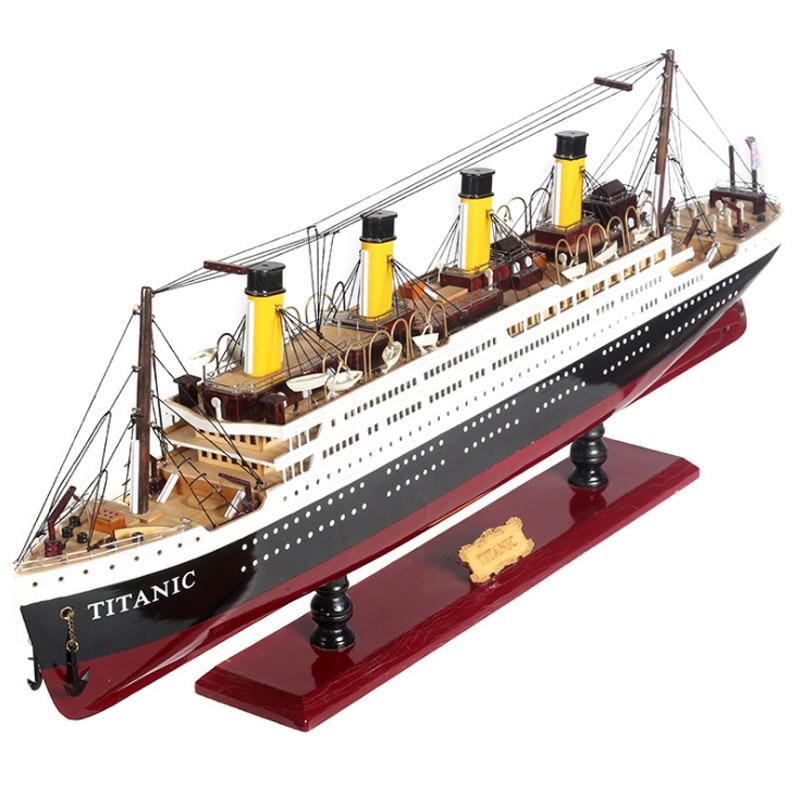 Luckk Hot Sale 3D Wooden Assembled Sailboat Titanic Model Decoration Model Ship Simulation Lights Cruise Ship