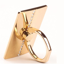 Luxury Couple Models 360 Degree Finger Ring Mobile Phone Smartphone Stand Holder Mount for IPhone IPad Xiaomi All Smart Phone