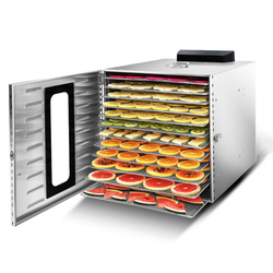 Food Dehydrator Dryer Fruit Dryer Snack Home Use Commercial Intelligent Touch 12 Storeys Stainless Steel 110V / 220V