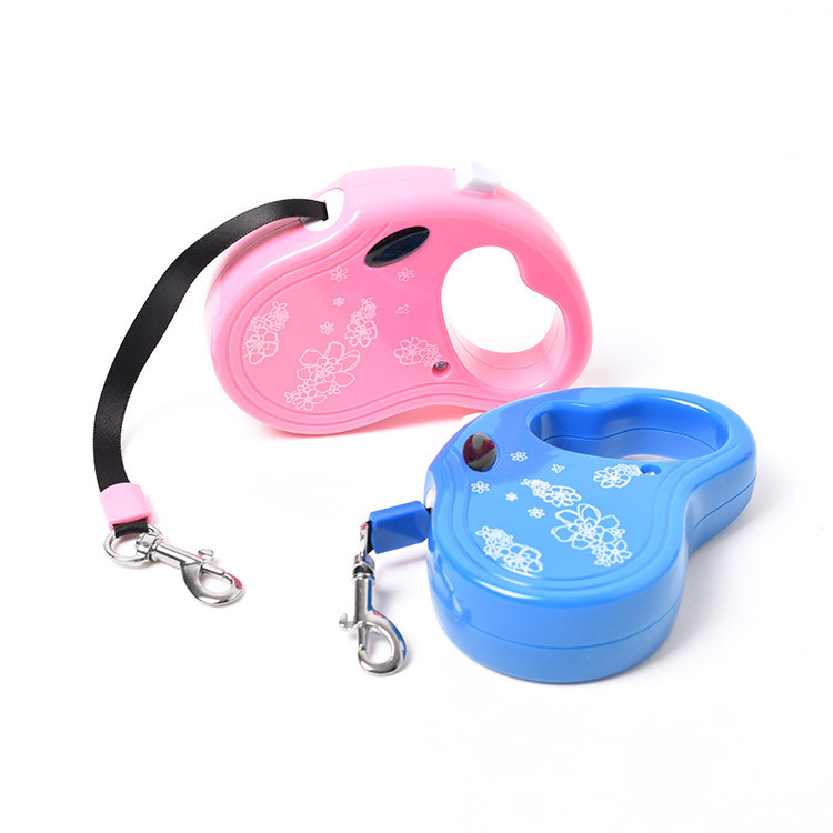 Hot Selling Pet Traction Rope Dog Hand Holding Rope Automatic Axially Extensible Retractable Portable Teddy Law Bucket Dog Usefu