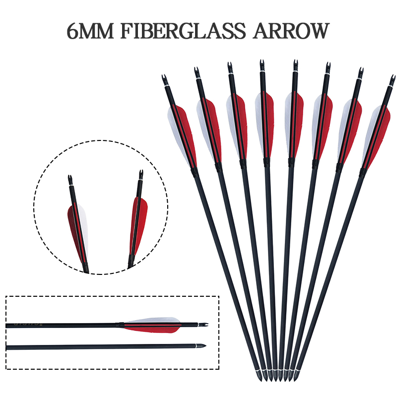 6//12//24Pcs Archery Carbon Arrows 32/'/' Hunting Compound Recurve Bow Spine 500