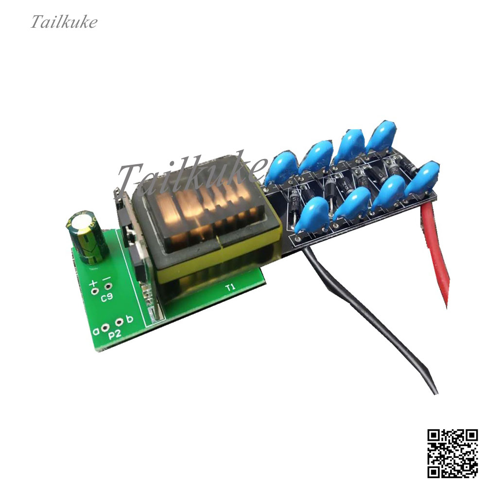 High Voltage Inverter DC 5v-12v Boost 1kv-20kv Adjustable Pulse Arc Long Time Electrostatic Generator