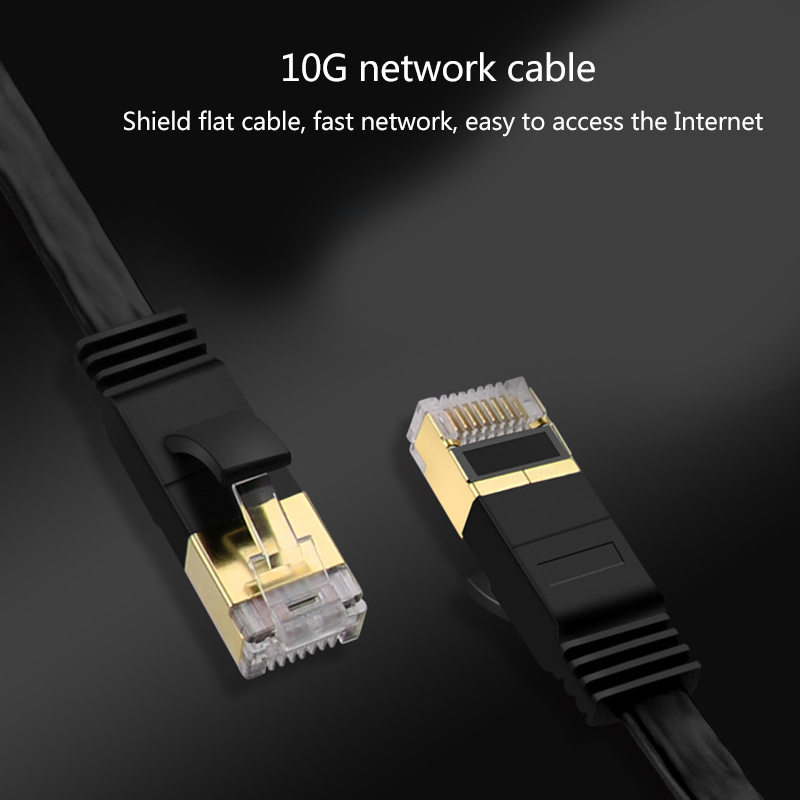 Hot Sale Home Office Use Flat CAT 7 Ethernet Cable Network Lan Cable Internet Connector For PC Modem Router 1/2/3/5/10/15/20/30M