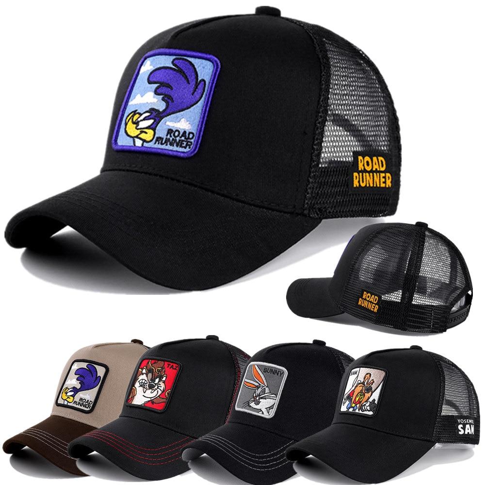 Newest Brand Anime 50 Styles Mesh Cap Cotton Baseball Cap For Men Women Hip Hop Trucker Hat Gorras Casquette Dropshipping