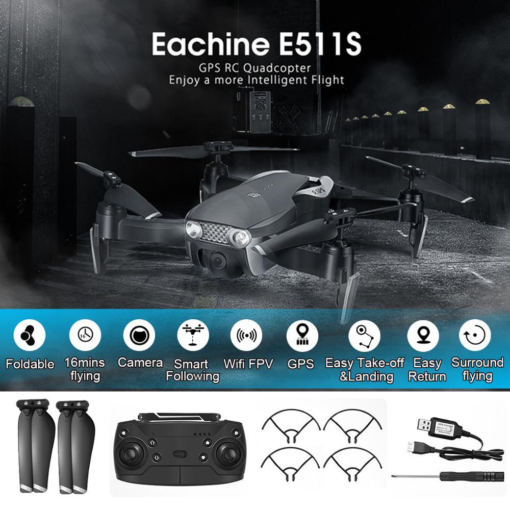 Eachine E511S RC 드론 5G 1080P 카메라 GPS 동적 Quadcopter 헬리콥터 VS XS816 SG106 F11 S167 dro와 WIFI FPV 비디오를 따르십시오