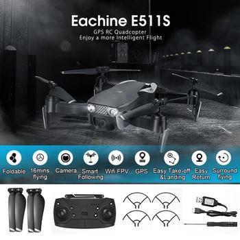 Eachine E511S RC Drone 5G 1080P kamera GPS dynamiczna śledzenie WIFI wideo FPV z helikopterem Quadcopter VS XS816 SG106 F11 S167 Dro