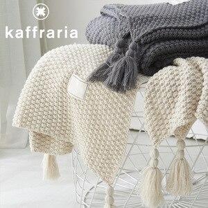 Модное трикотажное одеяло с кисточками, домашний диван, офисный кондиционер, одеяло, полотенце, дорожная сетка, переносное одеяло для автом...