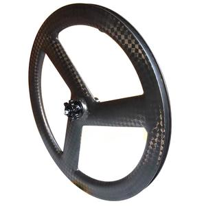 Image 2 - Tri Spoke 20 Inch 451 Carbon Wheelset BMX Folding bike wheels Disc Brake 3 Spoke Carbon Bike Wheels