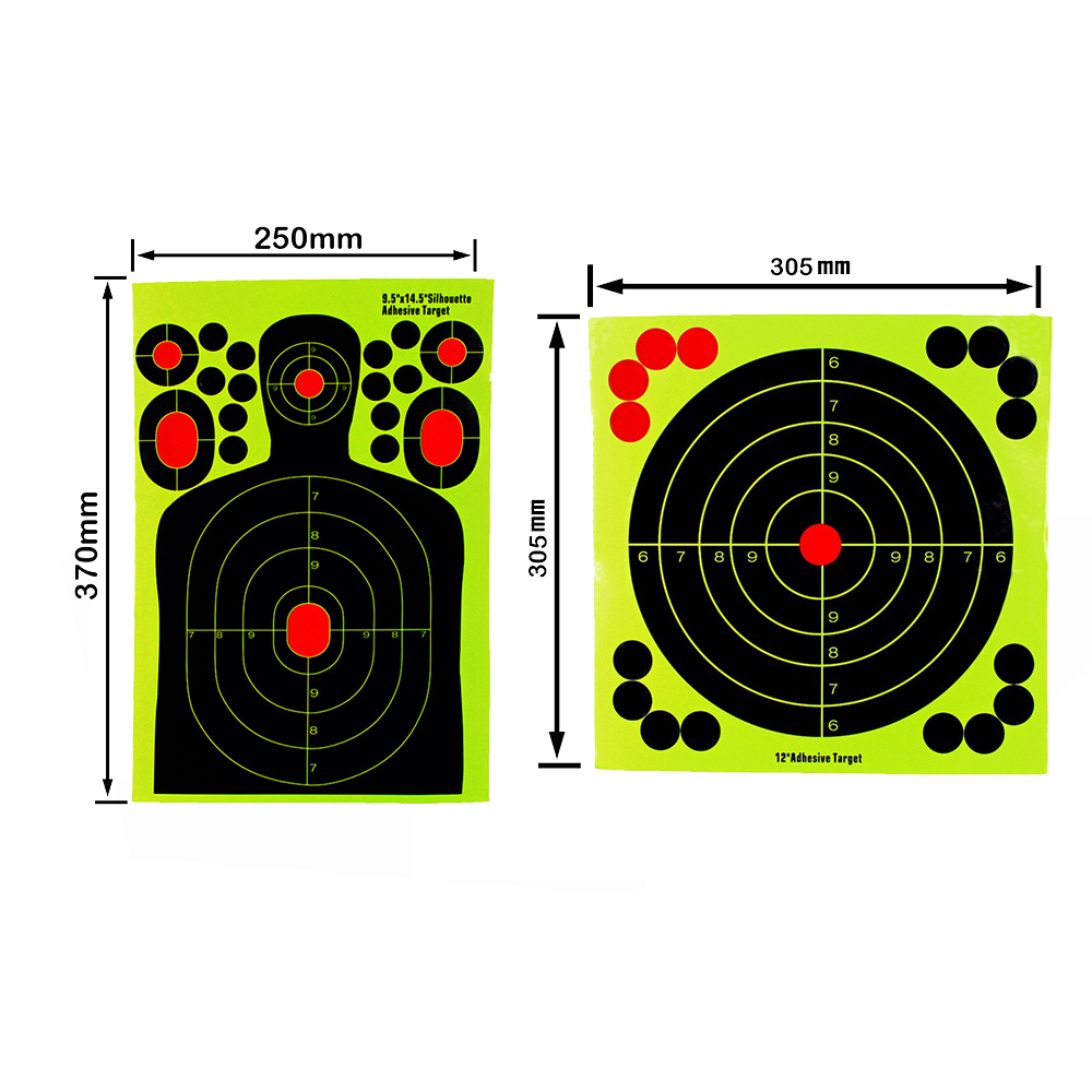 20/50sticks Per Pack Splash Flower Target14.5 X 9.5/12X129.5 Inch Adhesive Reactivity Shoot Target Aim For Gun/Rifle/Pistol Bind