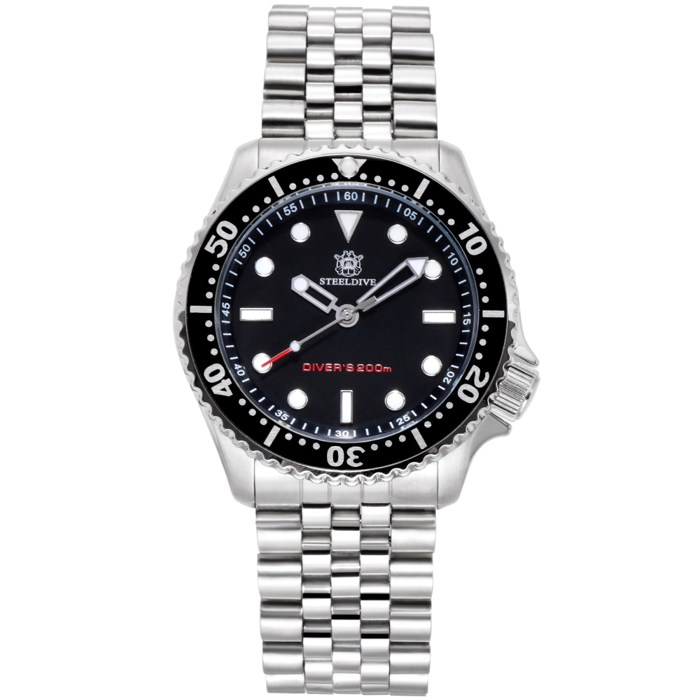 2019 New Quartz Diver Watch Men Stainless Steel Black Swiss Movement 200m Waterproof