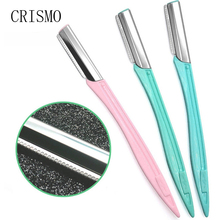 CRISMO 1pc Eyebrow Razor Eye Brow Epilator Brow Knife Facial Remover Shaver Makeup Facial Hair Removal Blades Eyebrow Trimmer avon electronic brow trimmer