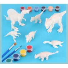 DIY kolorowanki do malowania zwierząt Model dinozaura rysunek akwarela Graffiti zabawki dla dzieci Dropship tanie tanio OOTDTY CN (pochodzenie) Papier B2QD9FF700951 Unisex Rysunek zabawki zestaw 5-7 lat Farby nauka notebook kolorowania notebook