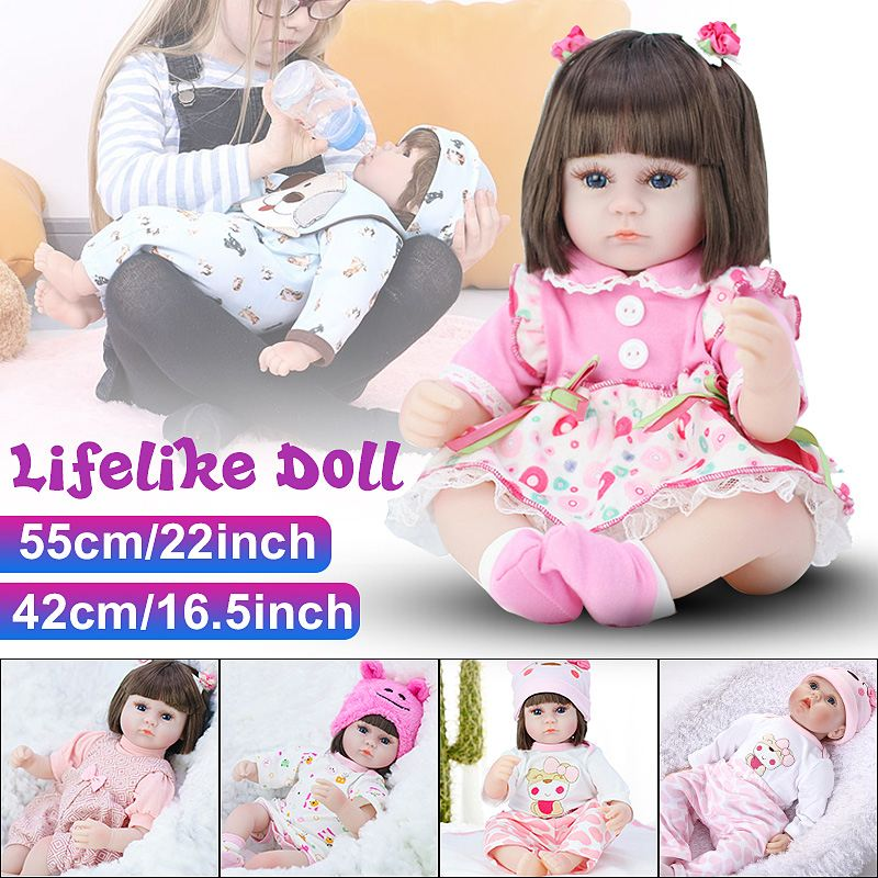 Silicone Reborn Dolls Alive Toddler Realistic Lifelike Real Girl Baby Doll Birthday Christmas Play Toys For Children