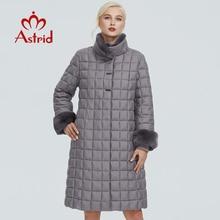 Astrid зимняя женская куртка с меховым воротником, дизайнерская длинная плотная хлопковая одежда, модная теплая Женская парка в сеточку, FR-2040