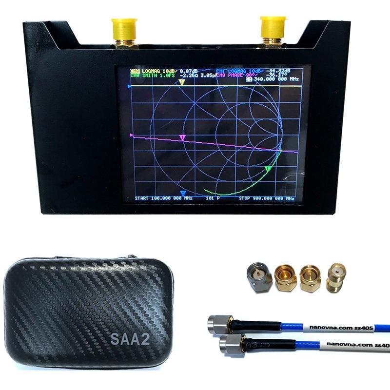 Векторный анализатор сети V2 3G, анализатор NanoVNA, анализатор коротких волн HF, VHF, UHF с чехлом EVA, анализатор антенны