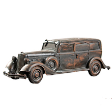 European Vintage Car Model Antique Resin Home Decoration Accessories Tv Cabinet Living Room Ornament