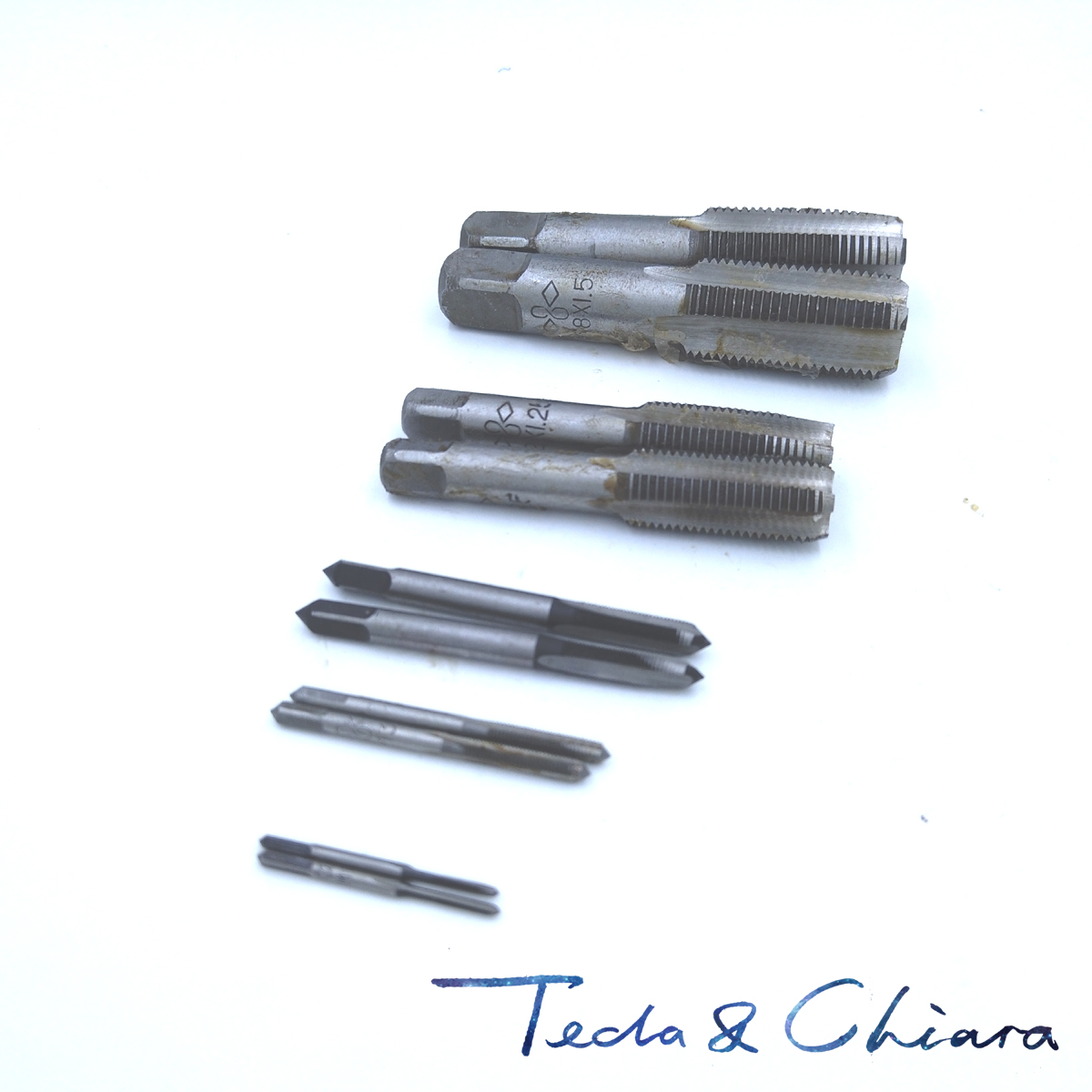 1Set M8 X 0.75mm 1mm 1.25mm Taper And Plug Metric Tap Pitch For Mold Machining * 0.75 1 1.25