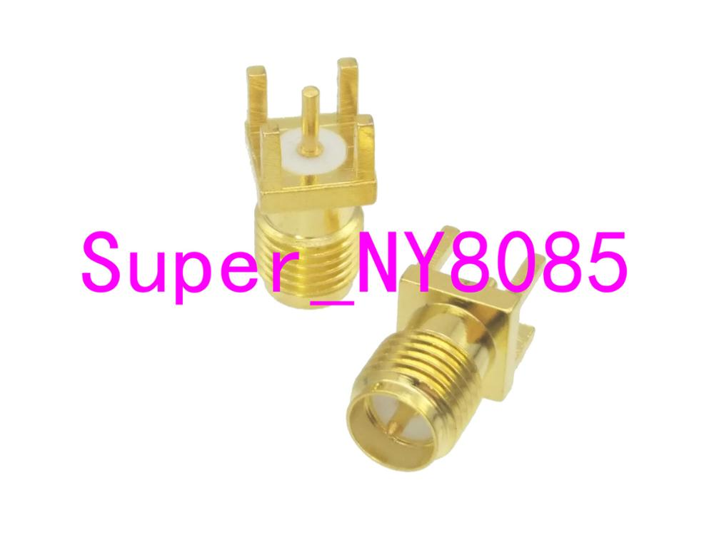 Connector RP.SMA Female Plug Solder PCB Mount Straight 5.08mm