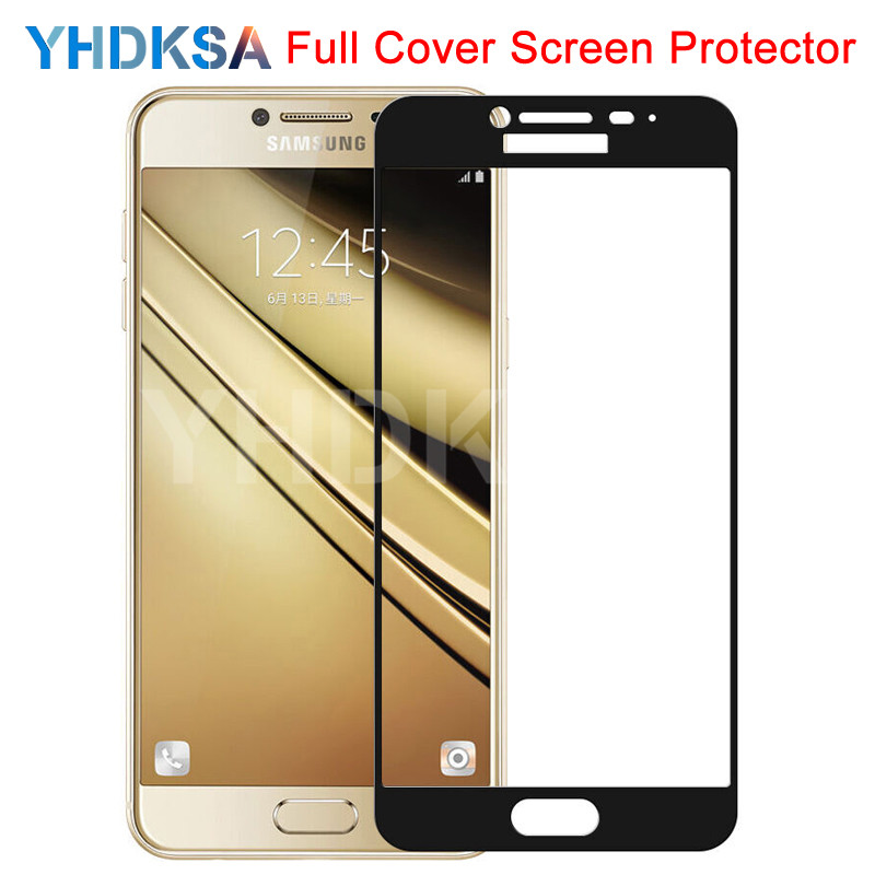 9D Protective Glass On For Samsung Galaxy A3 A5 A7 J3 J5 J7 2016 2017 S7 Full Cover Tempered Screen Protector Glass Safety Film