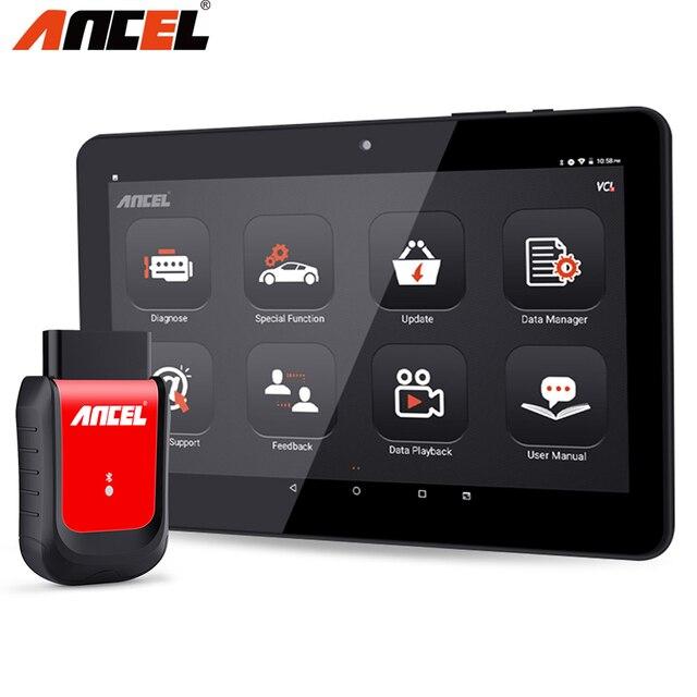 Диагностический сканер Ancel X6 OBD2, прибор для полной диагностики автомобиля, с Bluetooth, Wi Fi, системой TPMS, EPB, IMMO