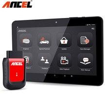 Ancel X6 Scanner de code de voiture, outil de Diagnostic complet, Bluetooth, Wifi, TPMS, EPB, IMMO, réinitialisation, câble OBD2