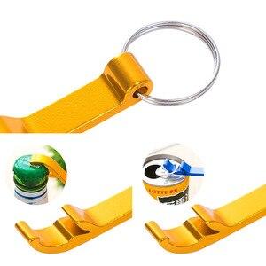 Image 3 - En gros 100 pièces personnalisé gravure texte Logo décapsuleur chien Tag porte clés porte clés personnalisé cadeau de mariage