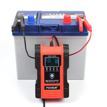 FOXSUR 12V 24V Motorcycle Car Truck Battery Charger,  7 stage LiFePo4 Charger ,12.6V Li Ion Lithium Lipolymer Battery Charger