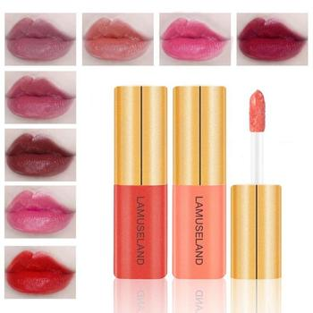 12 colors Matt Lip Glaze Sexy Red Moisturizing Waterproof Long Lasting Lip Plumper Lip Gloss  Lipstick  Makeup Cosmetics TSLM1