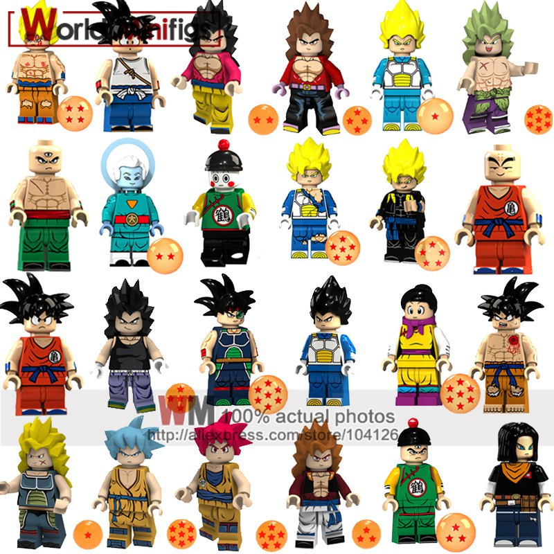Us 091 8 Offsingle Building Blocks Dragon Ball Z Super Saiyans Broly Vegeta Goku Gogeta Toys For Children Juguetes Gift Kid On Aliexpress