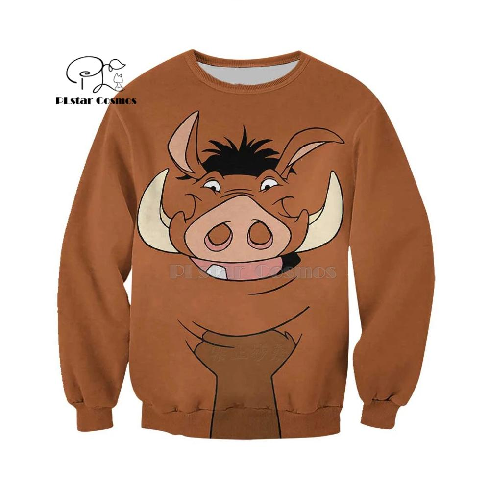 PLstar Cosmos animal COOL WARTHOG 3d hoodies shirt Sweatshirt Winter autumn funny Harajuku streetwear in Hoodies amp Sweatshirts from Women 39 s Clothing