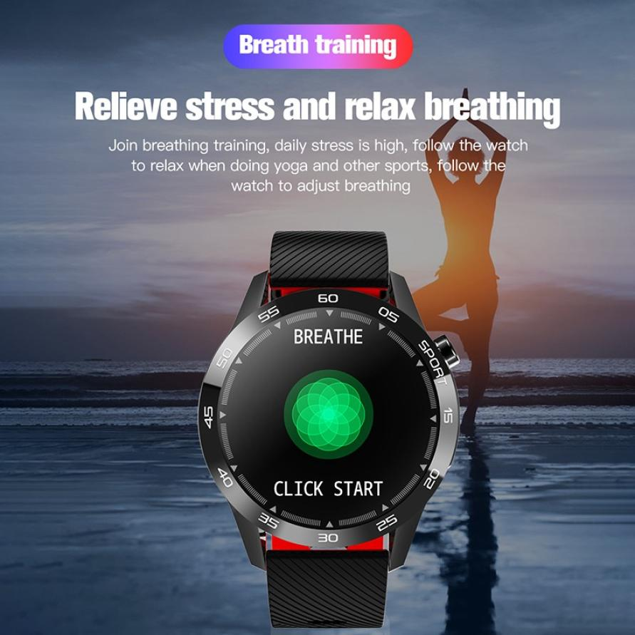 Body Temperature Smart Watch Heart Rate Monitor Health Tracker Weather Forecast Silicone Strap Pedometer Sport Smart Bracelet (5)