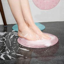 Bathroom Floor Mat Non-Slip Bath Mats Silicone Massage Exfoliation Shower Pad With Suction Cups