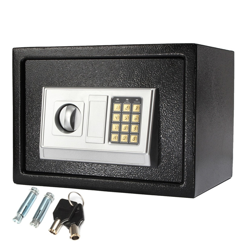Safurance Luxury Digital Depository Drop Cash Safe Box Jewelry Home Hotel Lock Keypad Black Safety Security Box