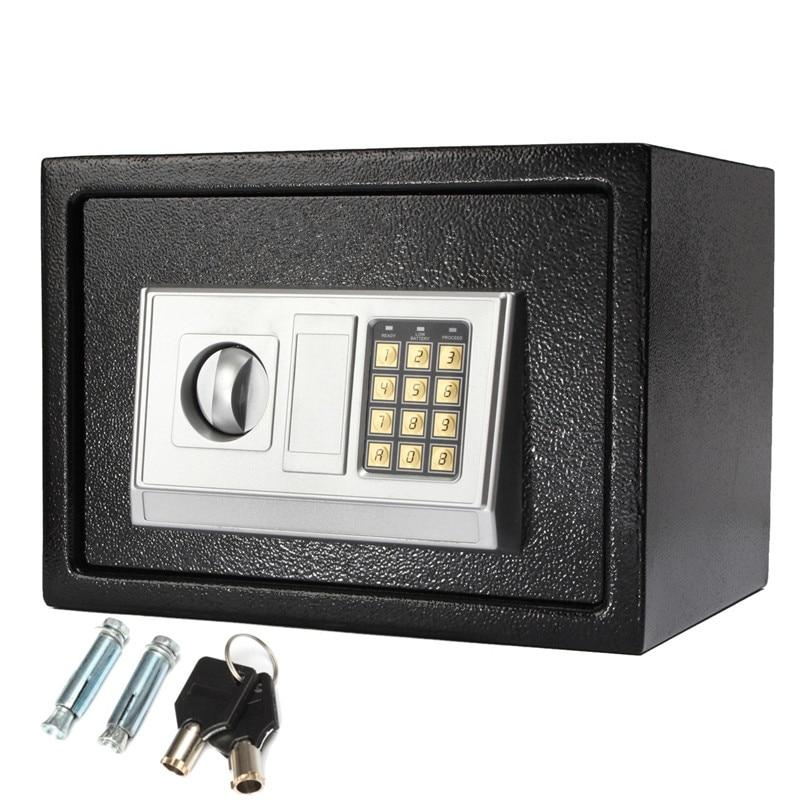 Safurance Luxury Digital Depository Drop Cash Safe Box Jewelry Home Hotel Lock Keypad Black Safety Security Box