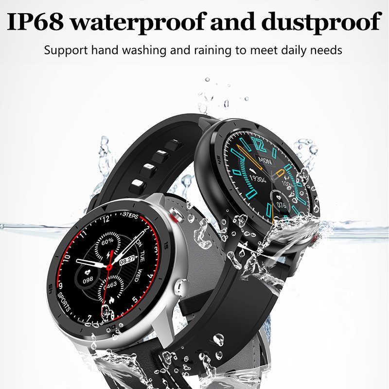 LIGE Nuovo IP68 Intelligente Impermeabile Degli Uomini Della Vigilanza di Frequenza Cardiaca di Monitoraggio Della Pressione Arteriosa Full Touch Screen di controllo di Musica di Sport Smartwatch