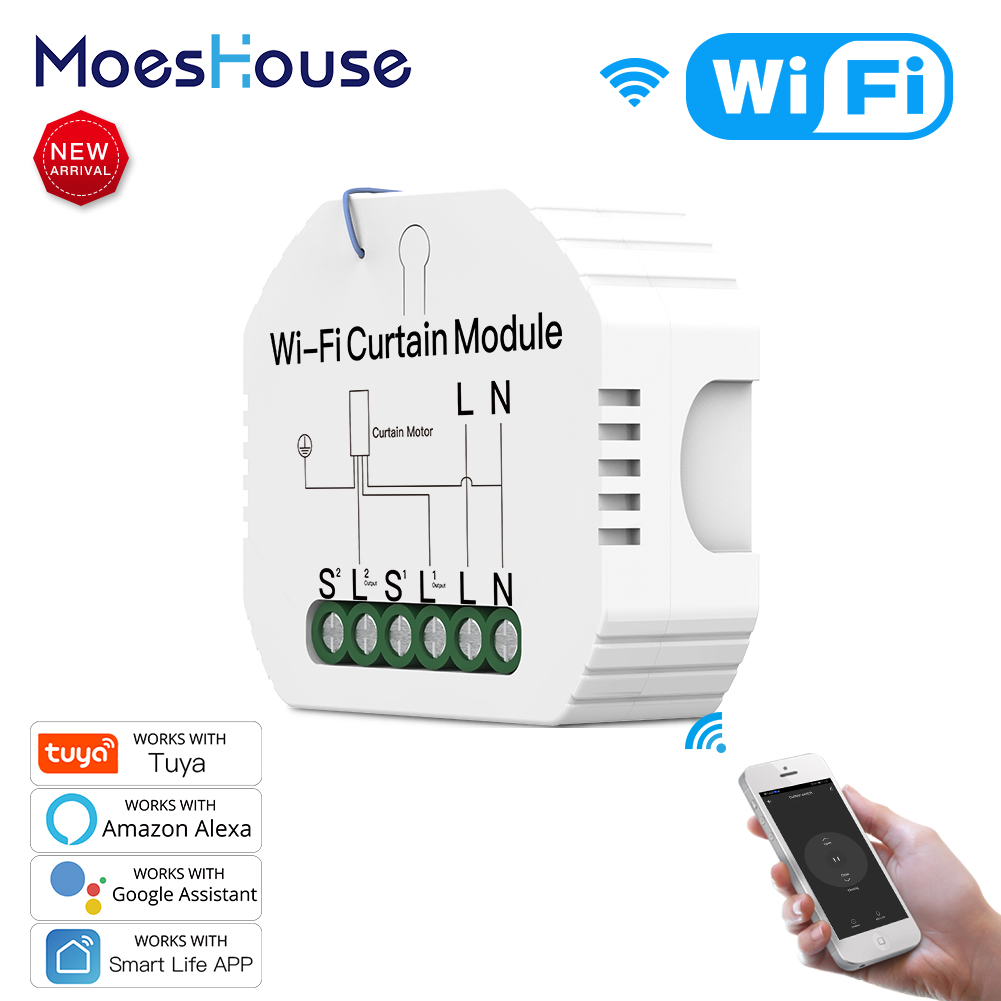 WiFi Smart Roller  Shutter Blinds Curtain Switch Module for Motor Smart Life Tuya APP Remote Control Work with Alexa Google Home