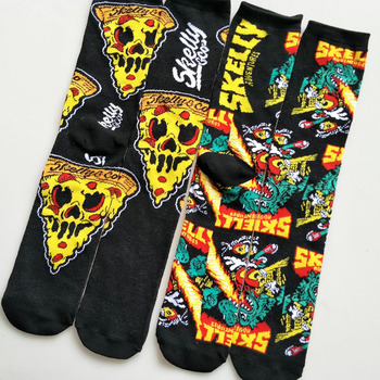 Socks men cartoon Skelly Selest sock men's anime Knee-High Warm Stitching pattern Antiskid Invisible Casual are winter Cotton - discount item  25% OFF Men's Socks