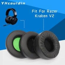 وسادات أذن بديلة لرازر كراكن 7.1 V2 ملحقات سماعة الأذن وسائد وسادات