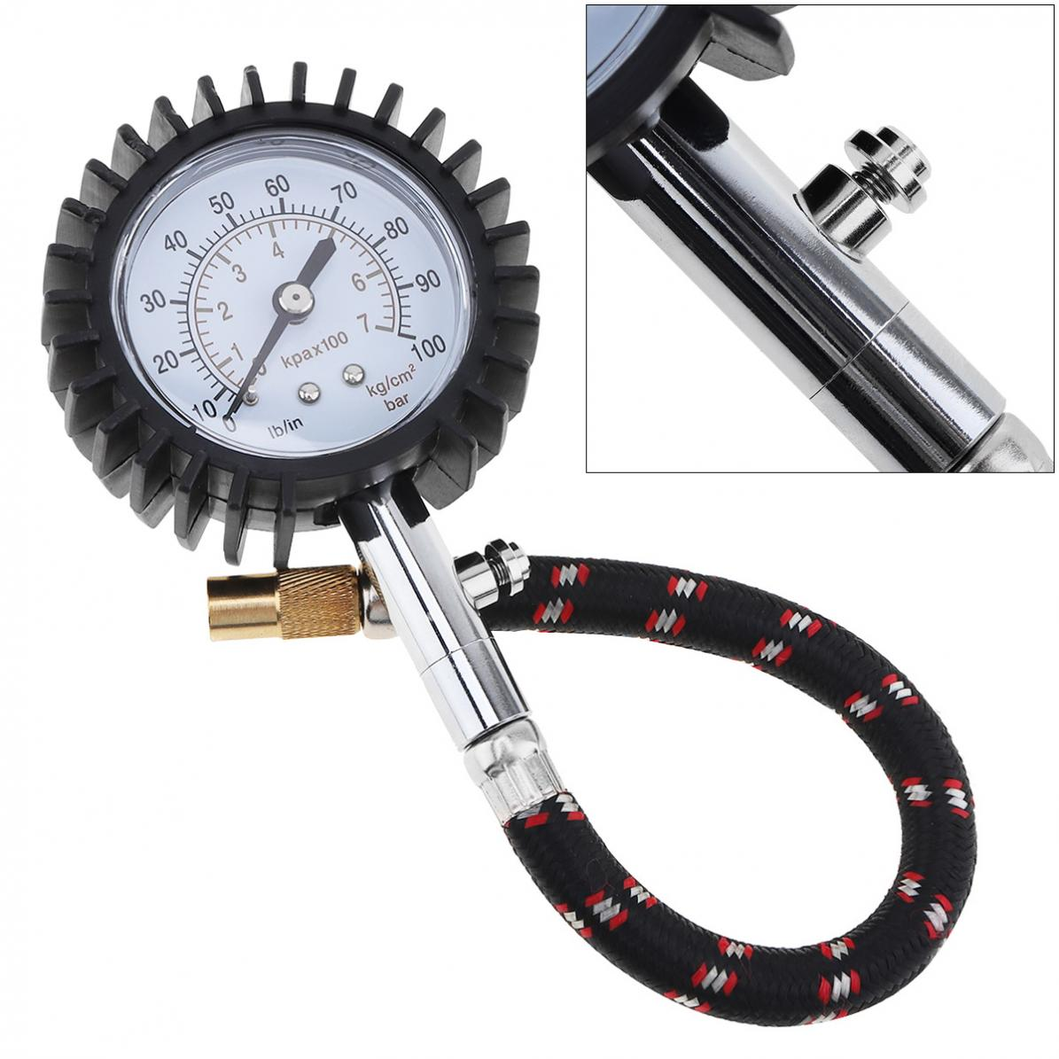 UNIT YD-6026 0-100 PSI Tyre Tire Air Pressure Dial Gauge Meter for Car Vehicle Motorcycle Tire Tool Accurate measurement