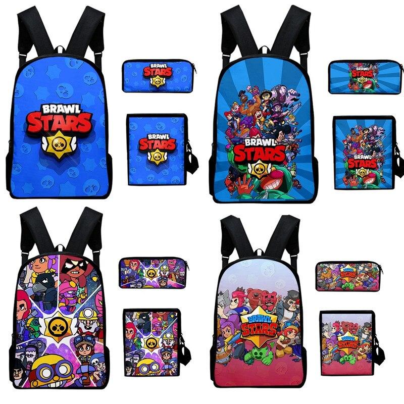 Bagarre star jeux héros figure modèle dessin animé figure Spike Shelly Leon sac à dos sac d'école doux inoffensif enfants cadeau d'anniversaire