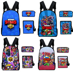 brawl star games hero figure model cartoon figure Spike Shelly Leon backpack school bag Soft Harmless kids Birthday Gift