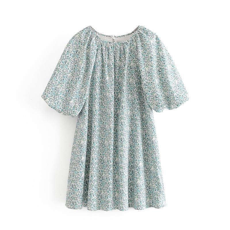 2020 New Fashion Brand Women Dress Beach Girl Causal Dress A-line Casual Summer Print Above Knee, Mini Short O-neck Empire