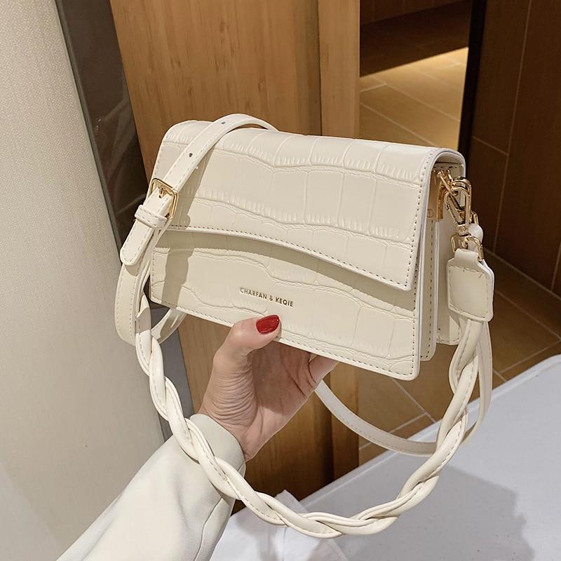 с доставкой Small PU Leather Stone Pattern Crossbody Bags For Women 2020 Fashion Lady Shoulder  Female Design Travel Totes