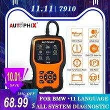 Autophix 7910 per BMW OBD2 Scanner automobilistico SRS SAS ABS EPB ripristino olio per BMW OBD2 Scanner per strumento diagnostico Rolls lada OBD