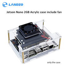 New Nvidia Jetson Nano 2GB Developer kit Clear Acrylic Case for Jetson Nano with Cooling Fan