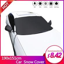 1 шт., зимний щит для снега, лобовое стекло автомобиля, снежное покрытие, водонепроницаемый ледяной мороз, защита от солнца, оконное покрытие с зеркальным покрытием